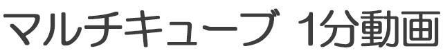 マルチキューブ1分動画