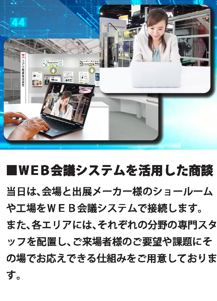 WEB会議システムを活用した商談